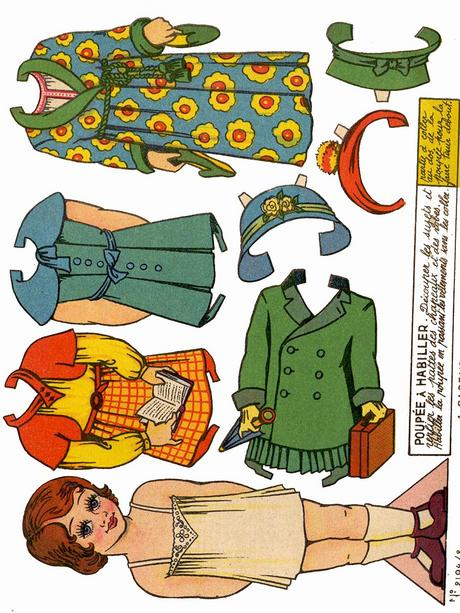 Product picture 21 pages of Vintage paper dolls